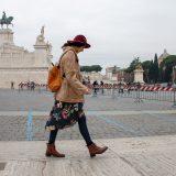 Turisti al foro romano