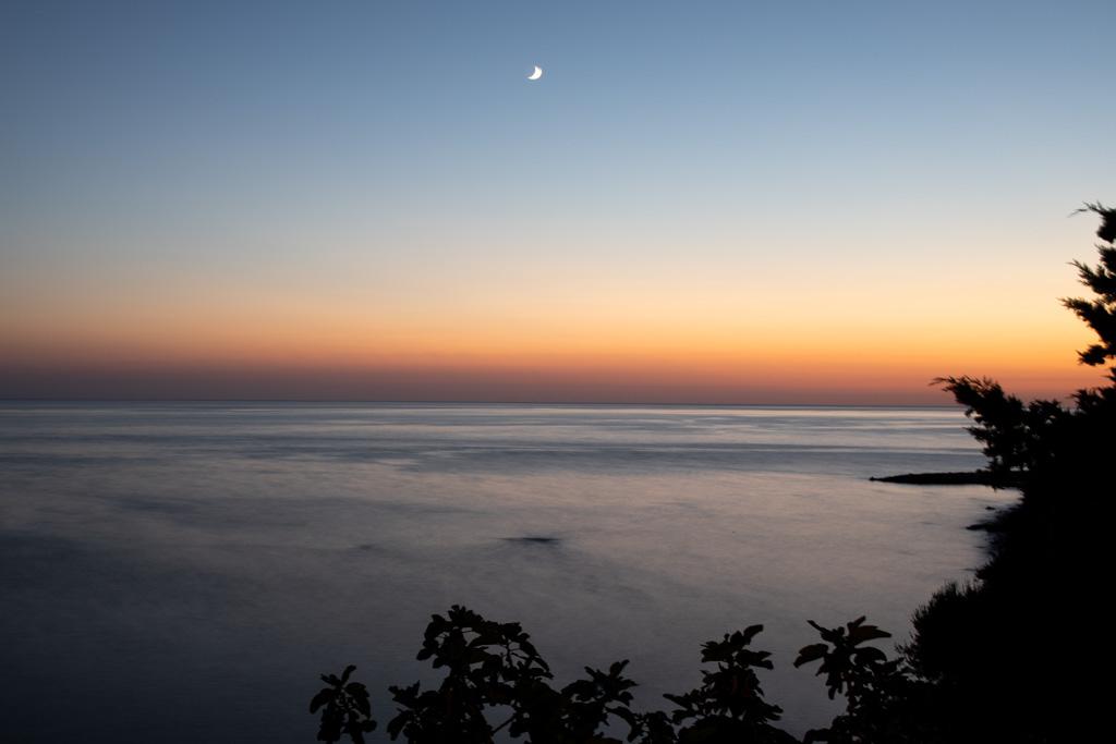 tramonto dalla marina di Pisciotta